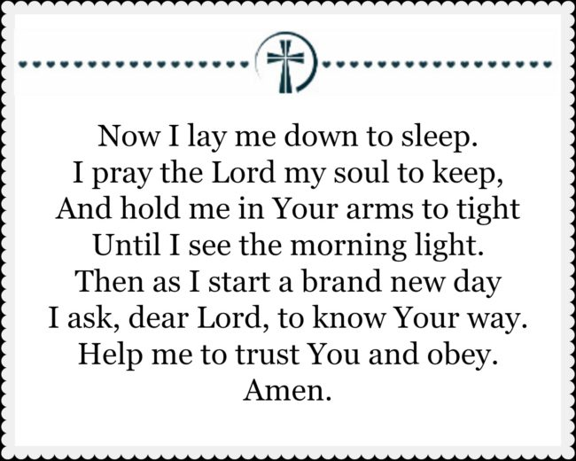 A New Way To Pray Now I Lay Me Down To Sleep Counting My Blessings